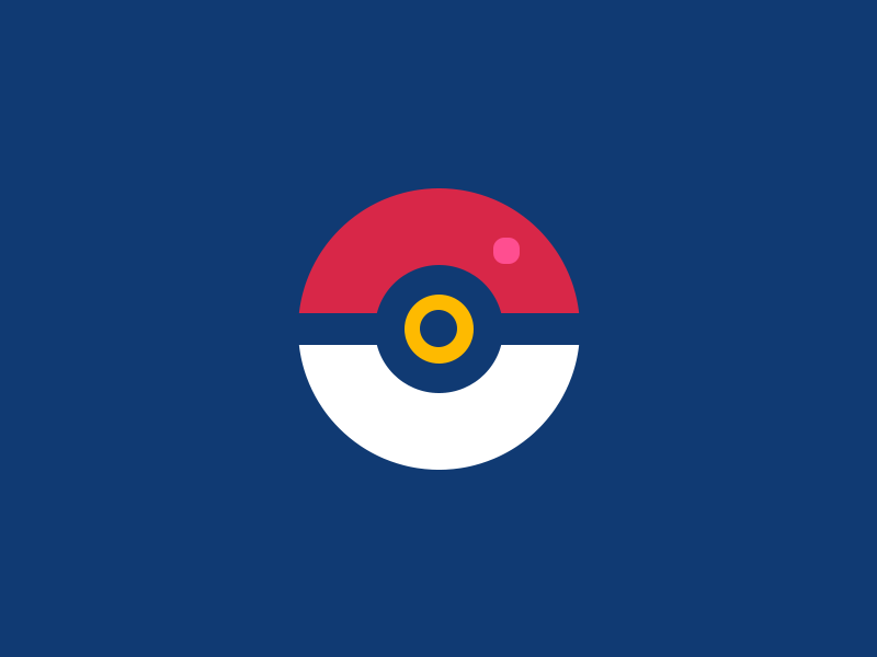 Poké Ball - Flat Version ball poke flat pokemon pokemongo