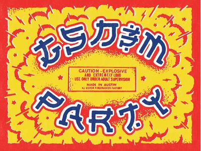 GSD&M SXSW Party Typography