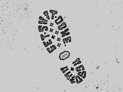 Get Shit Done dirt grunge print sole boot photocopy distressed hand done lettering typography type
