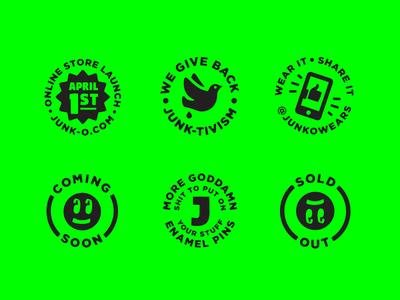 JUNK-O Circle Badges