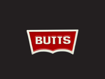 JUNK-O BUTTS enamel pin ass butts type parody mark icon logo denim jeans levis lapel pin enamel pin
