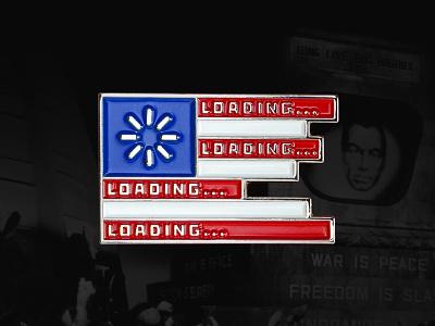 Net Neutrality trump flag america freedom internet 1984 censorship big brother patriotism net neutrality lapel pin enamel pin