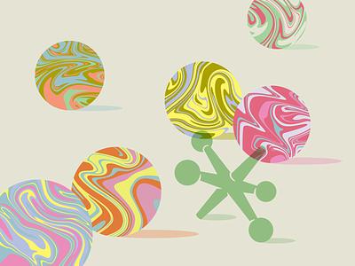 Experimenting illustration games balls swirl marbles jax