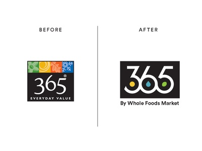 365 By Whole Foods Market Logo Redesign grocery organic whole foods branding elements number nature icon typography type logo