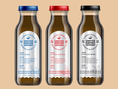 Coffee Labels industrial lockup logo typography type silver mockup bottle packaging label coffee