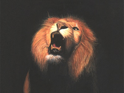 Lion - Painting @ 2002 lion art realistic painting