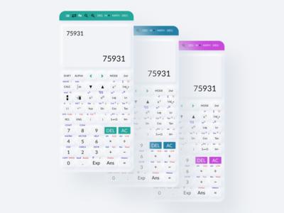 Scientific Calculator App flat design ux ui app branding