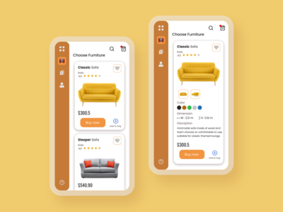 Furniture Store App branding ux ui design app