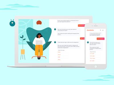 Eventbrite — Efficiency Chatbot brand design chatbot web design visual design