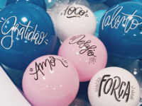 Lettering balloons