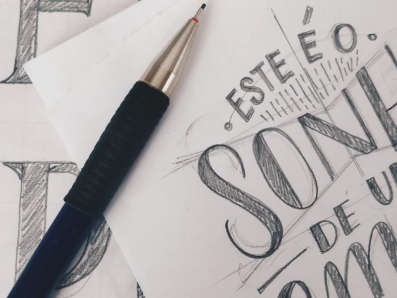 Sketch handlettering type art typography lettering sketch