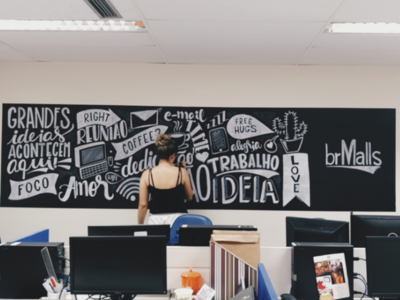 Lettering wall
