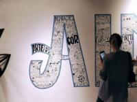A | collaborative lettering