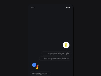 Google Turns 22 mockup illustration minimal design branding