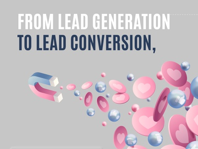 Lead Generation To Leads Conversion flat moment marketing logo animation mockups mockup illustration minimal design branding