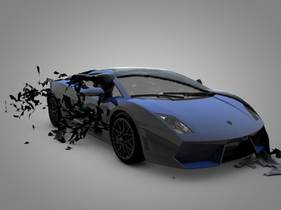 Lamborghini Cloth Tear Cinema 4D