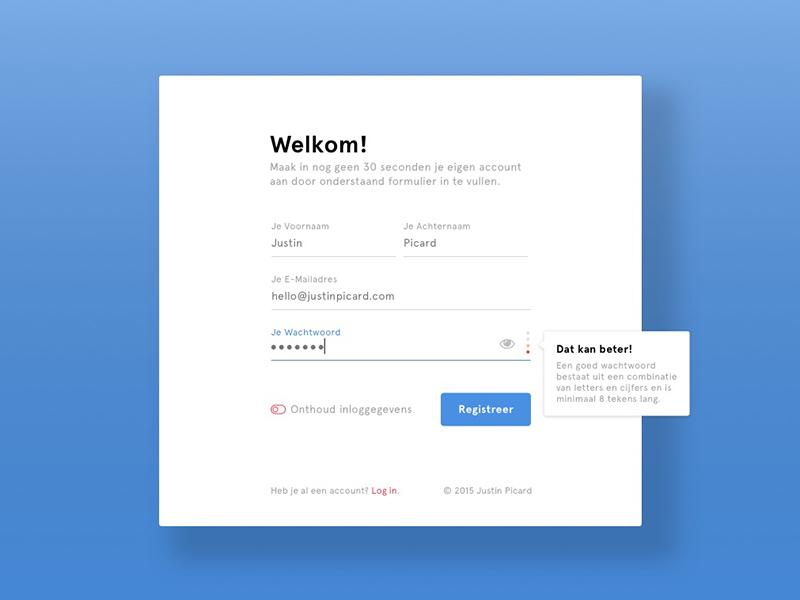 Tags / form validation - Dribbble