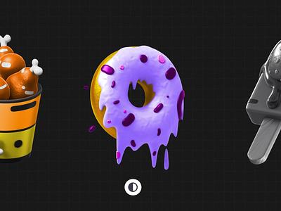3DSax  3D food pack vector graphic branding blender illustration art graphic design c4d motion graphics icon pack logo ui design render animation 3d illustration 3d illustration digital illustration 3dsmax