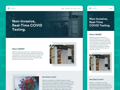 SEEQR Website branding desktop covid19 covid pagina web site web web design landing website
