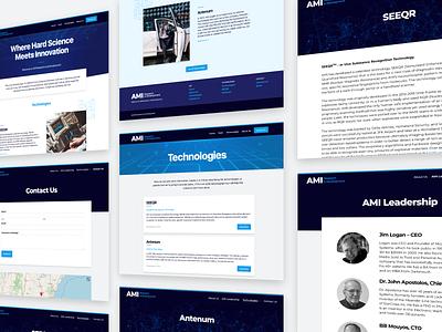 AMI Website web design seeqr covid19 technology desktop site landing page website web