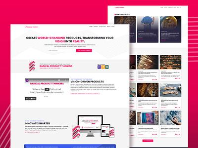 Radical Product radhika radical desktop site web page website landing page web ui design