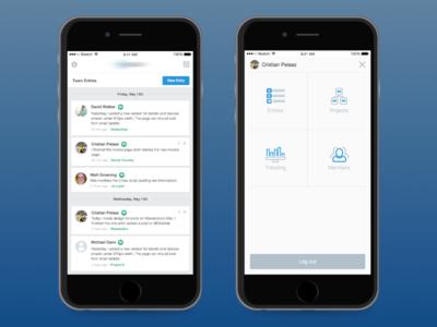 Mobile Menu V1 dropdown ios navigation mobile entries icons sidebar menu