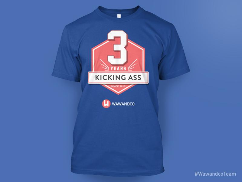3 Years t-shirt celebration commemorative code years anniversary kick ass t-shirt