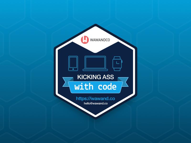 Kicking Ass Sticker  development kick ass app watch mobile web devices hexa code sticker