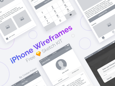 iPhone Wireframes mobile app ux wireframes guide style sketch iphone ios