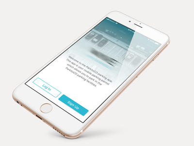 Parkito Home View vehicle app sign up mobile iphone home view parking