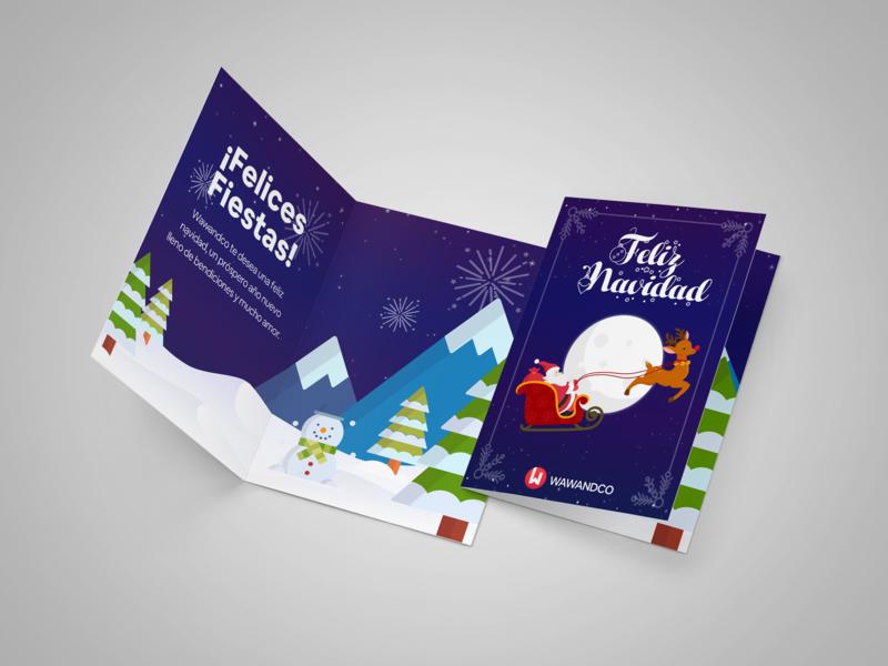 Feliz Navidad! greeting card feliz navidad merrychristmas card illustration design