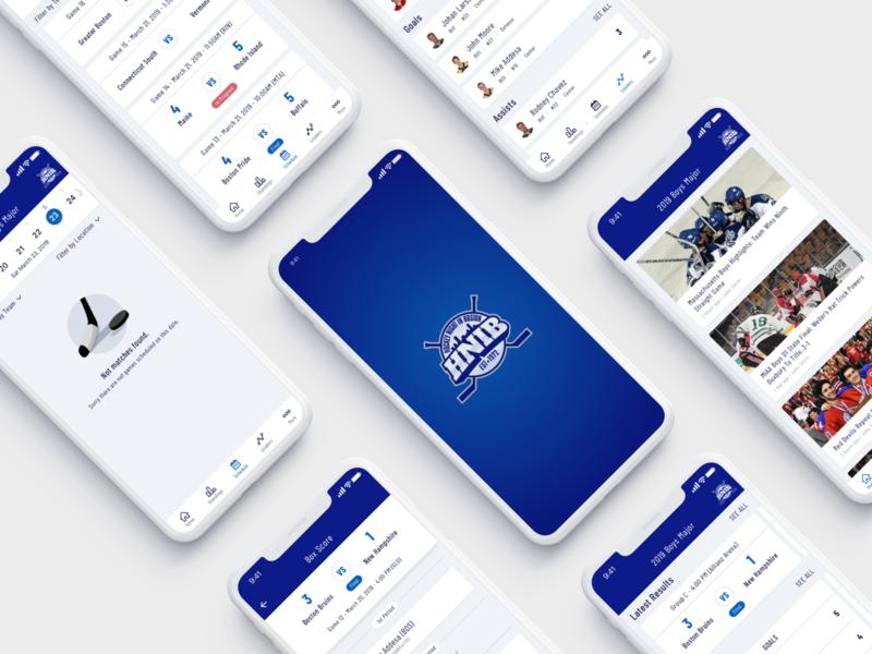Hockey Mobile App calendar match hnib schedule application mobile design sport hockey ios app mobile