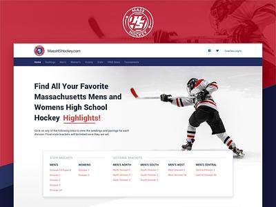 MHSH Website webpage high school massachusetts sport hockey design web desktop landingpage website