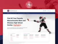MHSH Website webpage high school massachusetts sport hockey design web desktop landingpage website