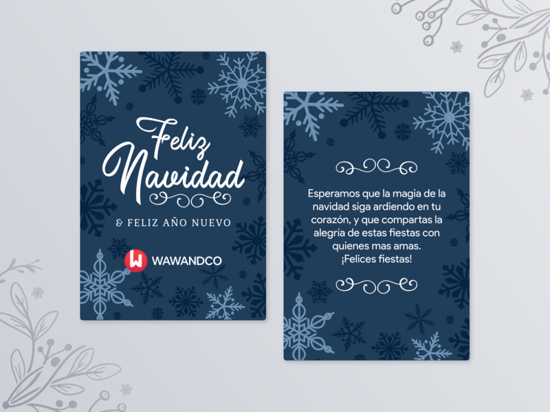 Merry Xmas, Dribbble! christmas card navidad christmas illustration card design