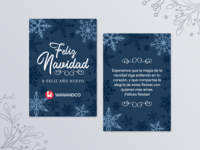 Merry Xmas, Dribbble! christmas card navidad christmas illustration card design
