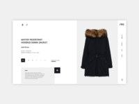 Fashion Product Page - Zara product page redesign