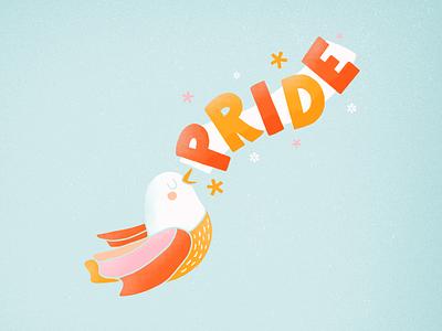 Pride pride bird design illustration handtype handlettering letters type lettering typography
