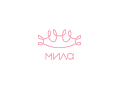 Mila m clothes identity mila curly crown baby logo princess