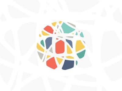 Symball symbol icon colorful ball shapes logo