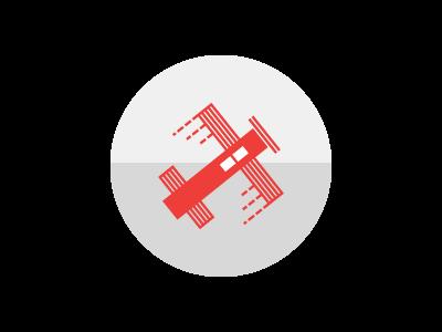 Go! linear globe airplane icon