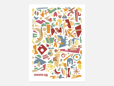 Unused Pattern repeat letterhead identity abstract shapes colorful flat retro pattern