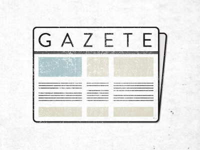 Gazete newspaper sidebar ad paper journal gazette line
