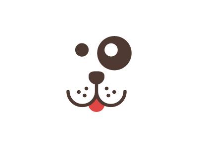 Woof dog icon logo vector animal pet cute woof tongue