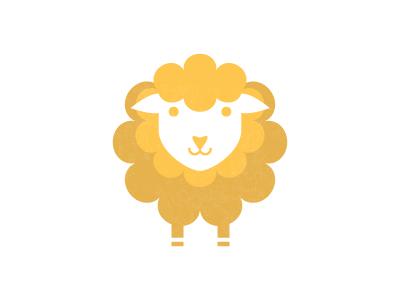 Sheep sheep animal simple logo icon symbol