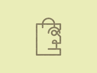 Shopping Face shoping bag face line logo symbol shopping