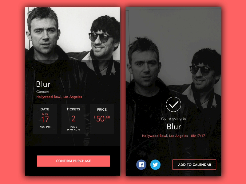Daily UI Challenge #54: Confirmation venue design confirmation ticket music app user interface daily ui dailyui