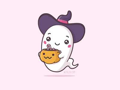 Halloween Ghost stock cute character illustration vector cartoon kawaii ghost haloween