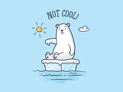 Global Warming vector t-shirt funny animals illustration cartoon global warming polar bear