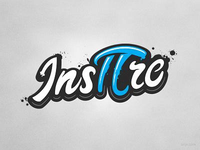 Inspire illustration vector clothing hand lettering handlettering graffiti typography pi day pi tshirt